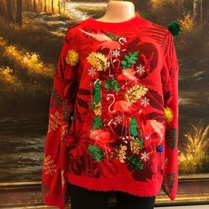 33 Degrees Ugly Christmas Sweater Size Large